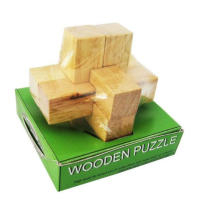 Cross style wooden puzzle, estilo de luxo