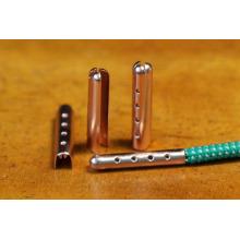 Clip vendido caliente del metal de la extremidad del cordón del zapato del aglet del oro del metal de 20m m para el bolso