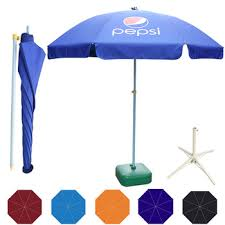 Advertising beach umbrella promotion beach sun parasol02 pepsi