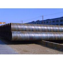 Espiral del SSAW tubería de acero al carbono soldado con autógena o tubo