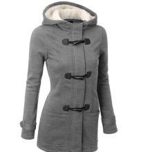 Europeu quente vendendo senhoras casaco de algodão com capuz jaqueta