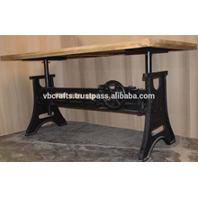 Mécanique lourde Crank Table à manger Nouveau design