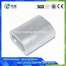 Flat Oval Pipe Sleeves Aluminium Ferrules