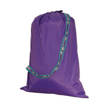 High Quality 100% Polyester Green Hospital Drawstring Laundry Bag