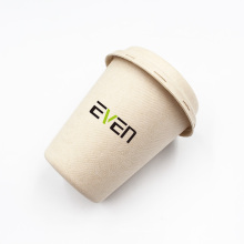Anhui EVEN Factory Wholesale 100%  Biodegradable Sugarcane Bagasse Cups Coffee Cup With Lid