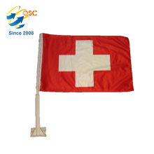 lowest price of red cross bike flags