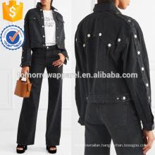 Cropped Denim Jacket Manufacture Wholesale Fashion Women Apparel (TA3035C)