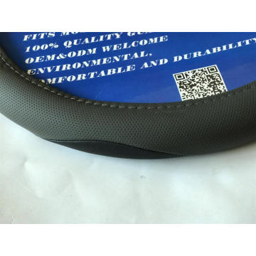 Grey pounching sport style  steering wheel cover