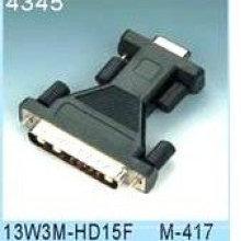 13W3 MALE TO HD15 FEMALE ADAPTOR