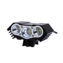 Luz de lámpara de bicicleta LED blanca impermeable de 4 modos