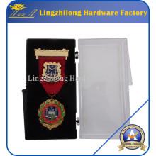 Joyería de la medalla de oro de la moda con la caja plástica embalada