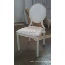 White wedding party stackable chairs on promotion XA3231