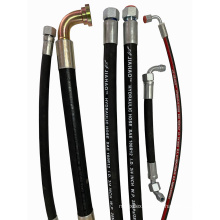 high quality rubber hose with brass stainless steel hose connector / Flexible Hydraulic Rubber Hose Assembly
