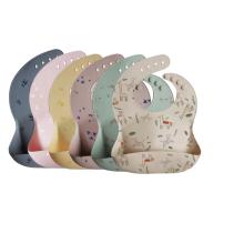 100% Food Grade Custom Pattern Silicone Baby Bib