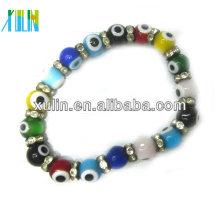schöne große runde Perlen türkische böse Augen Armband