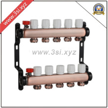 Quality Copper Water Separator for Floor Heating System (YZF-M865)