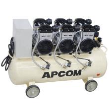 Oilfreeaircompressor APCOM EX1500*3-120 4.5kw Dental Oil Free Silent Air Compressor with 120L Tank