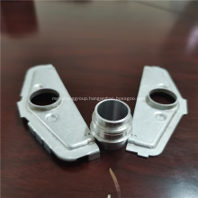 Brazed aluminum inlet and outlet for aluminum plate
