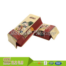 Food Grade Material Flexible Packaging Custom Made Own Logo Print Quad Seal Side Gusset Kraft Paper Pouch