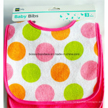 OEM Produce Customized Logo Printed Dotted Cheap Promotional Cute Cotton Baby Bibs