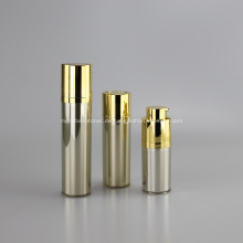 Flacon Pompe Airless Rond Rotatif 15 ml 30 ml 50 ml Couleur oder de Luxe