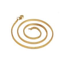 Collier en acier inoxydable 316 chaîne chaîne en or chaîne Fashion Design 24k en acier inoxydable 316 chaîne en acier inoxydable 5mm collier serpent