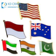Wholesale custom metal national sri lanka india pakistan usa american texas australia philippines country flag lapel pin badges