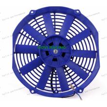 14-дюймовый синий универсальный автомобильный радиатор с электрическим вентилятором