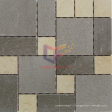 Gery and Beige Color Mixed Marble Mosaic Tile (CFS956)