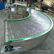Ленточный конвейер с цепной пластиной