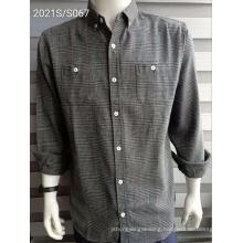Two-pocket Plaid Garments Men's Strips Shirts