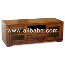 деревянная стойка TV для живущей комнаты