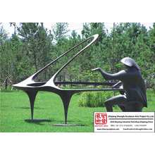 Pianist Bronze Sculpture