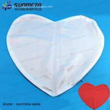 Produits de sublimation en blanc impression taille coussin d'oreiller rouge