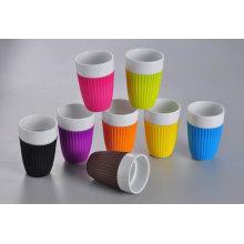 Keramische Kaffeetasse mit Silikon