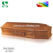 JS-IT017 торговли гарантии поставщик лучших Цена Дешевые деревянный гроб
