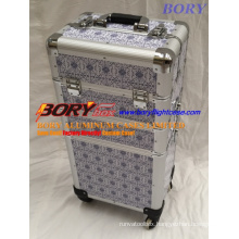 Travel PU Leather Large Rofessional Makeup Kit Case