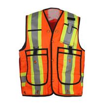 100% Polyester Fluorescent Reflective Safety Vest