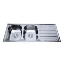 Нержавеющая сталь одна часть раковины ванной и столешницей