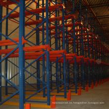 Estante de acero multicapa pregalvanizado / estantería de palet de alta densidad