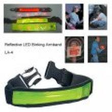 Reflective LED Marker Band-Reflective LED Binking Armband With LED Fiber Optic Strip Inside