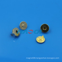 18mm neo rare earth magnet golden clothing fastener magnet