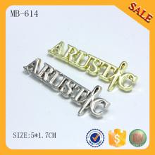 MB614 Lettre de sac à main logo plaque métallique personnalisée