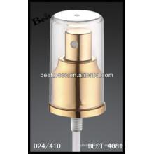 jet d'aluminium de parfum d'or, vaporisateur de bouteilles cosmétiques et pompe, pulvérisateur de pompe de parfum