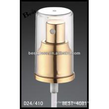 golden perfume aluminum spray , cosmetic bottles spray and pump, perfume pump sprayer