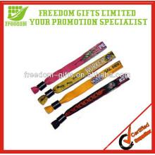 Bracelets faits sur commande d'événement de tissu de mode de logo