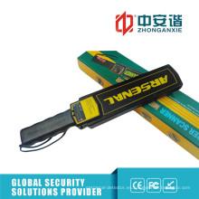 Detectores de metales de seguridad LED de alto brillo con conmutador de ajuste de sensibilidad