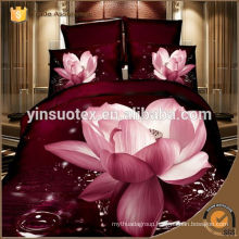 Fashion and Luxury 200TC Reactive printed bedding set,polyester bedding set