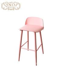 Alta silla plástica del café del taburete de bar del metal plástico al por mayor moderno