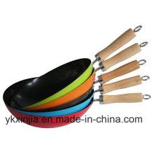 Bunter Kohlenstoffstahl Non-Stick Chinesischer Eisen Wok
